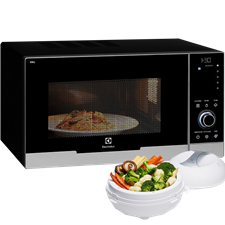 30L table-top microwave with grill and convection - black